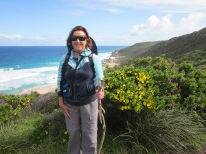 Janine on the Cape to Cape Track