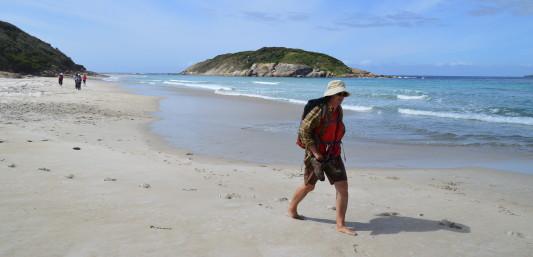 Beach walking Albany Denmark Bibbulmun Track