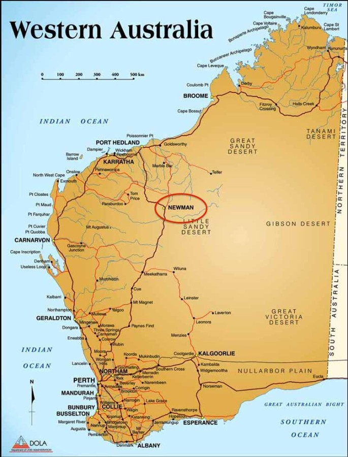 karijini national park map pdf