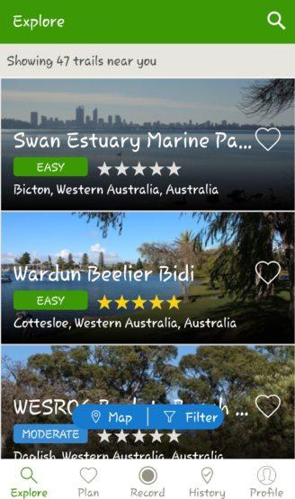 hiking tracking app