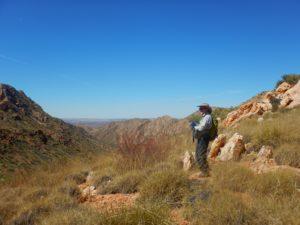 Man walking on Larapinta Trail