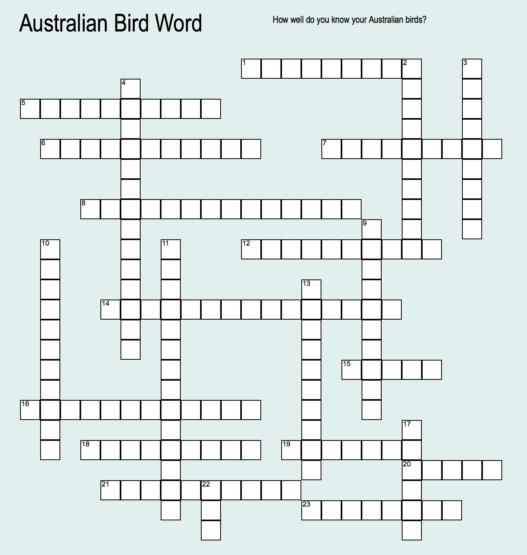Australian Bird Word