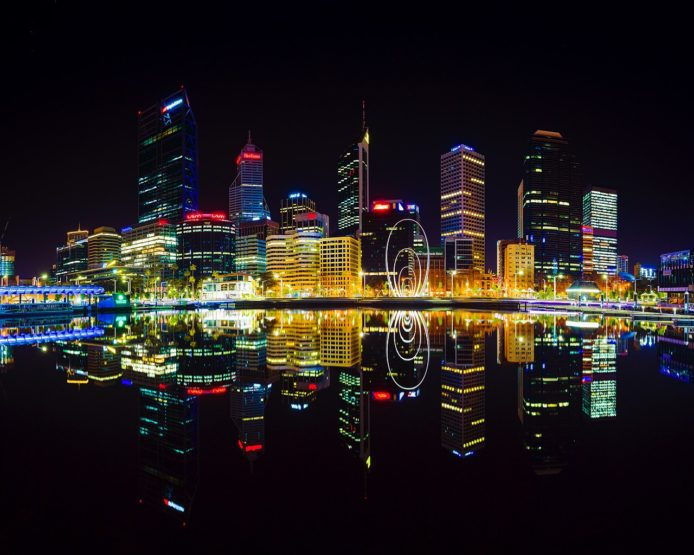 Perth Elizabeth Quay Night Cityscape Rob Dose