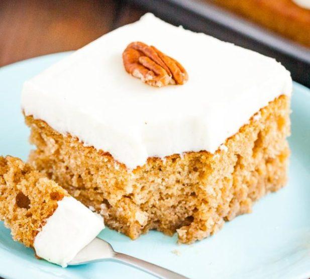 pumpkin spice cake pecan